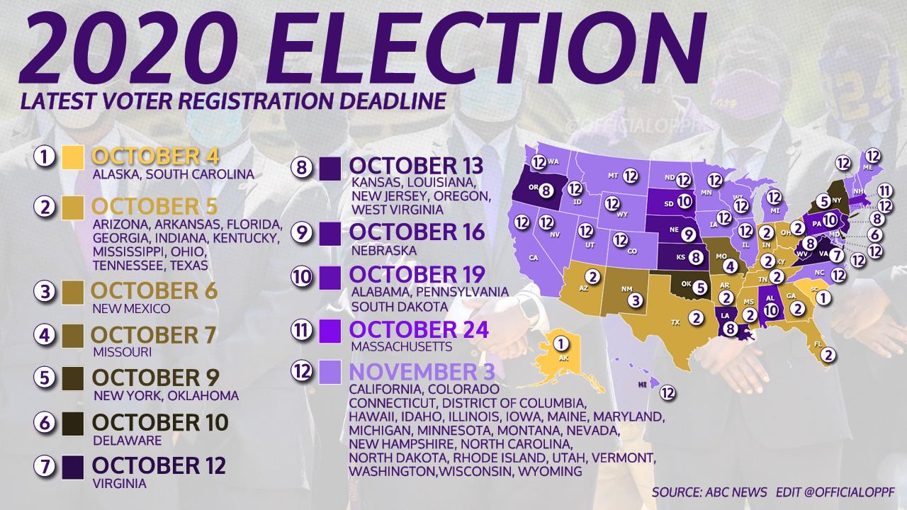 Latest Voter Registration Deadline